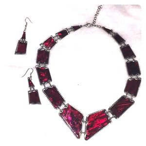 Jewelry - Collar necklace and earrings